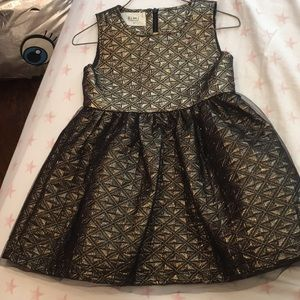 Holiday/ Party dress gold and black By bimi